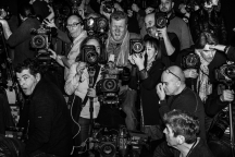 Photographers before a show during the Paris Fashion Week. Paris, France - March 6, 2016
